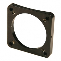 "Base for 2.0"" Dia Focuser, Curved with Leveling Screws - Custom Machined. Please specify radius or diameter of the tube."