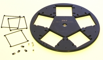 Optec  9-position Filter Wheel for 50mm Round Filters with mounting tabs
