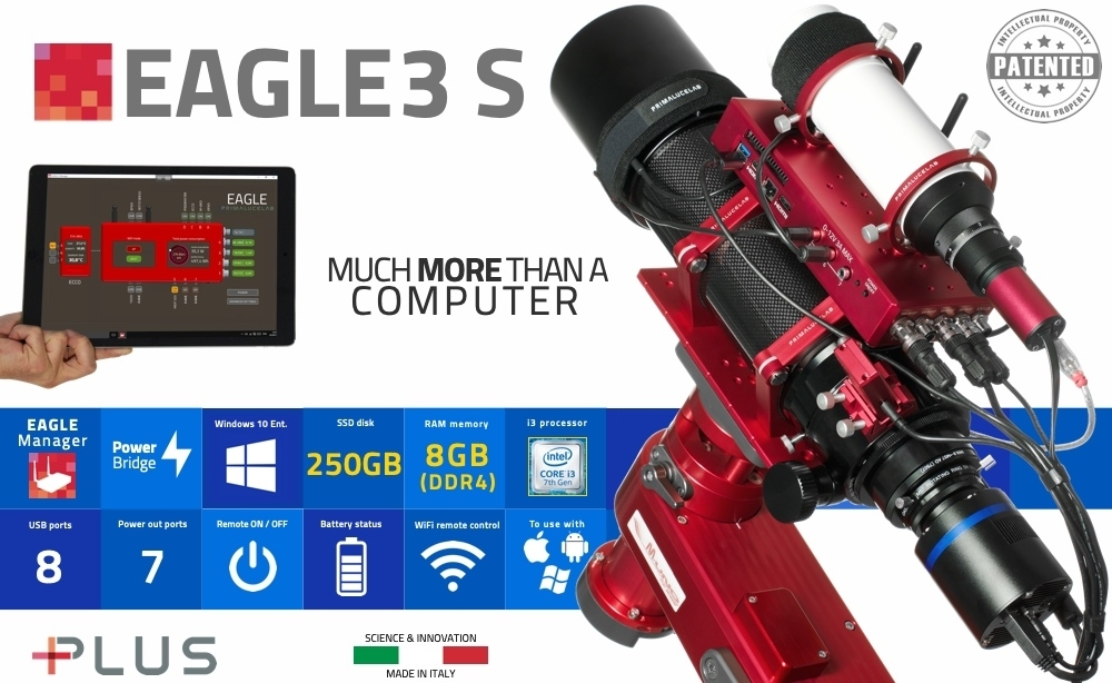 PrimaLuceLab EAGLE3 S, control unit for telescopes and astrophotography