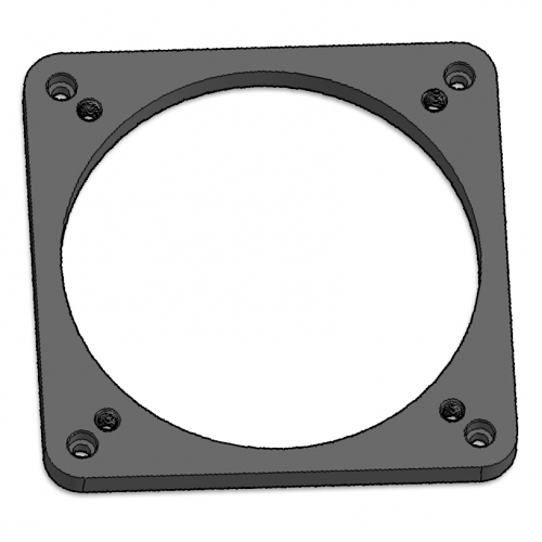 "Base for 3.0"" Dia Focuser, Flat with Leveling Screws"